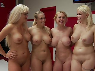 Dee Williams, Holly Heart, Angel Allwood and Alice Frost's lezbo wrestling
