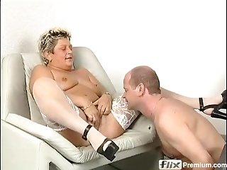 Piping hot old German woman