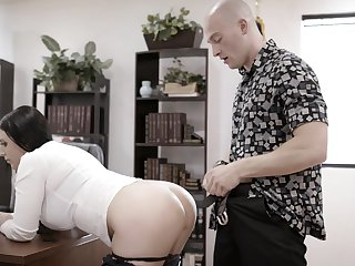 In one's birthday suit dude brutally fucks the shit out of his too strict prex boss