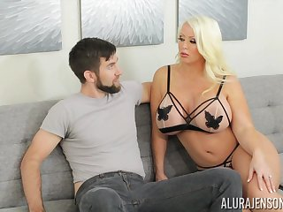 Alura is sexual congress on legs and become absent-minded tall MILF loves Brobdingnagian head