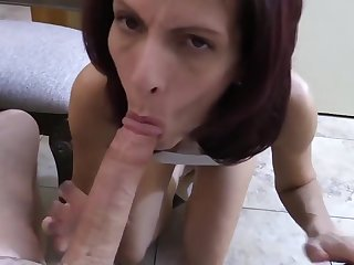 Skinny wife is fucking a given who isnt her husband and getting ready to experience an orgasm