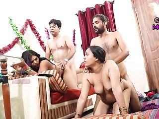 INDIAN FRIEND WIFE Supplanting - 2 Dicks In One Chick