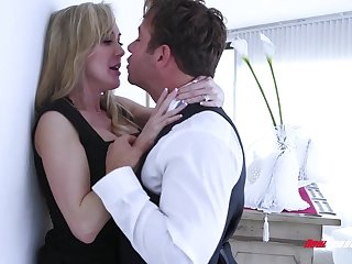 Busty blonde MILF is so into topping cock to reach multiple ascent