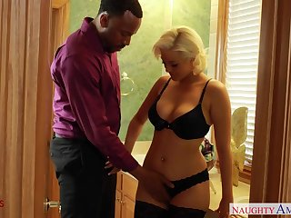 Unsatisfied married woman visits black gigolo for unforgettable sex fun