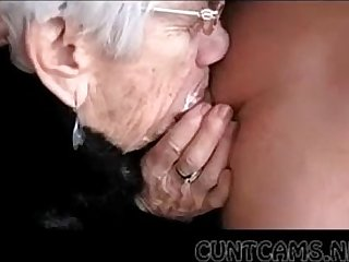 Granny Sucks Boys Cock for Her Fare well - More handy cuntcams.net