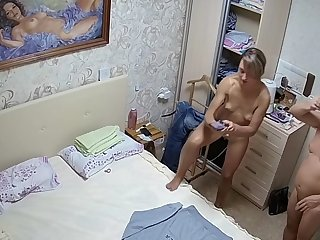 Skinny milf in her bedroom exposed to ip camera