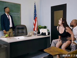 Angela White makes love to husband at a PTA meeting