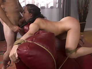 Wife gagged and merciless fucked by way of home fetish XXX