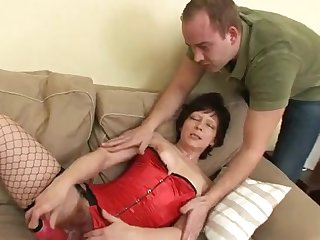 Mouldy Granny Gets Her Hairy Twat Hump