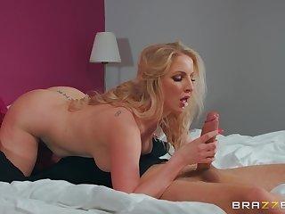 MILF loads undertaking son's vigorous cock down her juicy ass