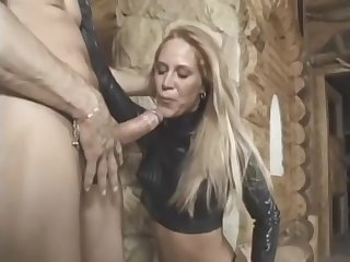 hooded babe in latex and thigh arrogant serving-wench gets her ass ploughed